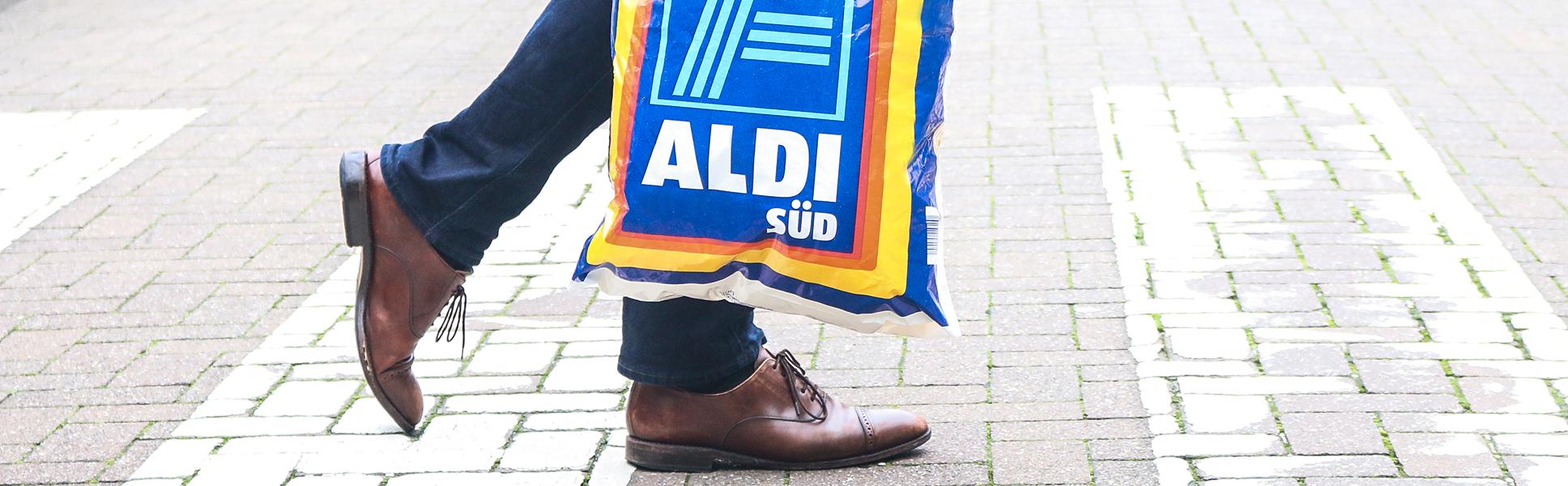 Abschaffung der Einwegtüte bei ALDI.
