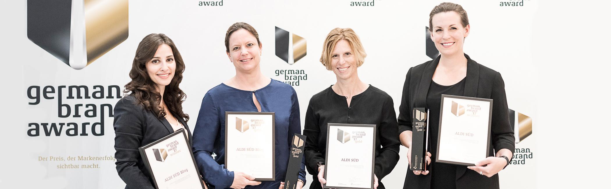 ALDI SÜD hat den German Brand Award 2017 für den Unternehmensblog erhalten.