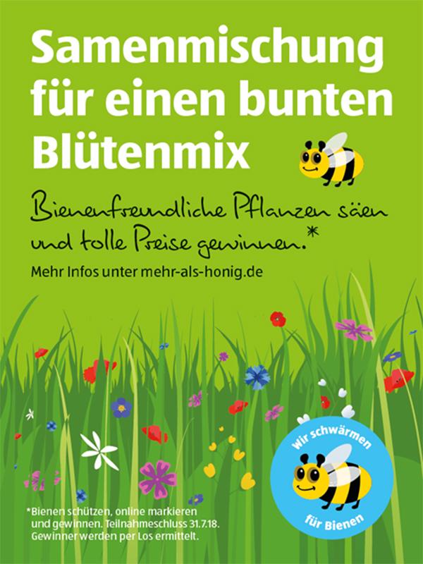 Mit Samentüten Lebensraum für Bienen schaffen.