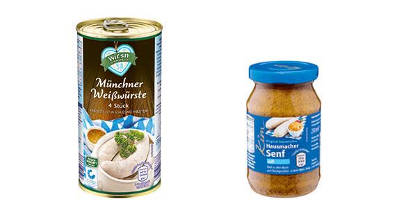 Münchner Weißwürste und Süßer Senf.