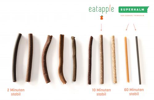 In den letzten zwei Jahren hat Wisefood die Rezeptur des Trinkhalms immer wieder angepasst. Heute hält er mindestens eine Stunde im Getränk.