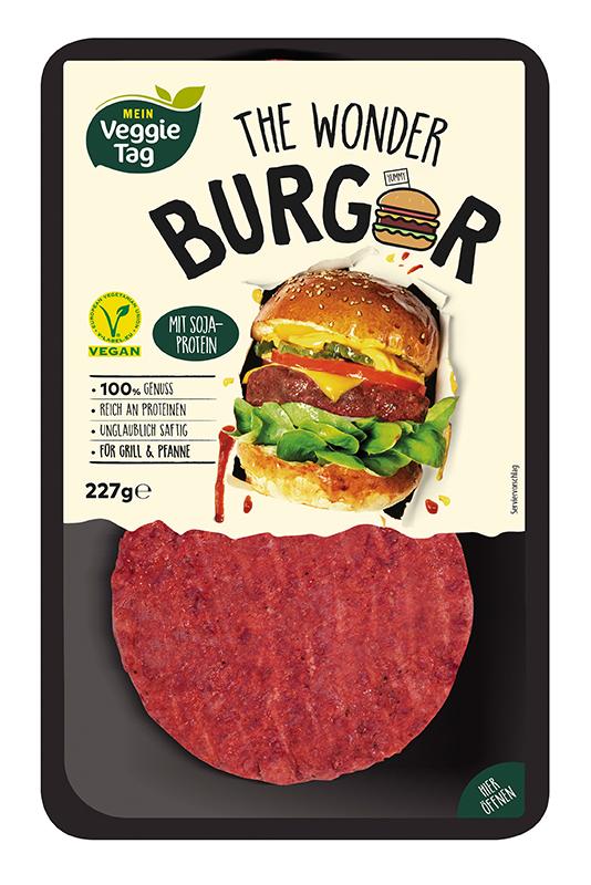Veganer Burger bei ALDI SÜD.